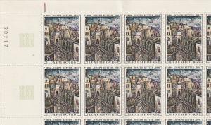 #477-78 Luxemburg Mint OGNH sheet of 25 folded once