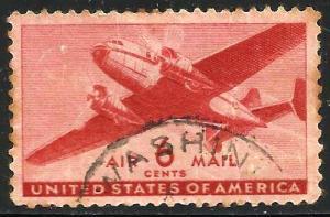 United States Air Mail 1941 Scott# C25 Used