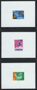 LIBERIA SC# 415-7 IMPF PRESENTATION SHEETS VF/MNH 1964