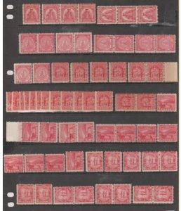 U.S. Scott #657-680-681-682-683 2-Cent Red Commemorative Stamp - Mint Set