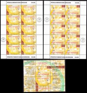 Bosnia and Herzegovina Europa CEPT Integration Sheetlets+MS SG#851-852+853