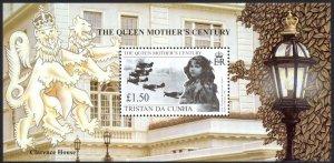Tristan Da Cunha Sc# 642 MNH Souvenir Sheet 1999 Queen Mother's Century