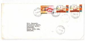 HH214 1976 Bahamas Roses Devon GB Airmail Cover {samwells-covers}PTS