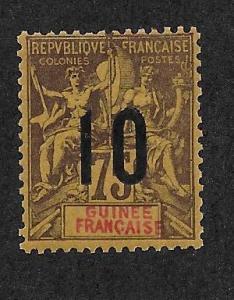 FRENCH GUINEA SC# 54  F/MOG    1912