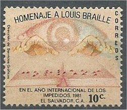 EL SALVADOR, 1981, used 10c, Intl. Year of the Disabled. Scott 936
