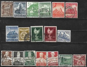 COLLECTION LOT OF 18 GERMANY SEMI POSTAL 1934+ STAMPS CV + $20