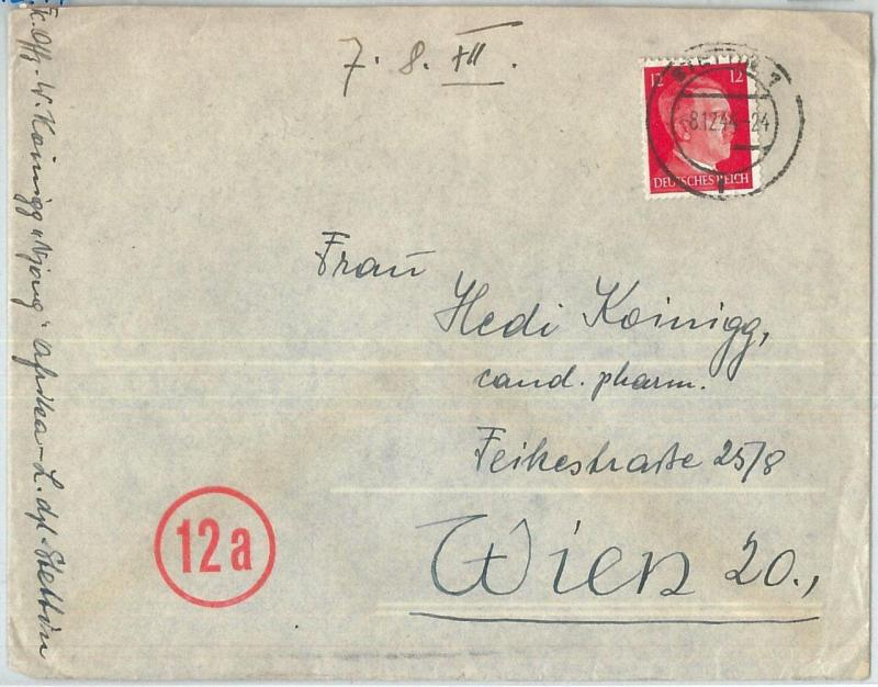 70040 - GERMANY Poland - POSTAL HISTORY -   COVER from STETTIN to AUSTRIA 1944