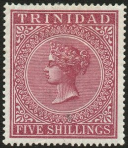 TRINIDAD-1894 5/- Maroon Sg 113 MOUNTED MINT V48647