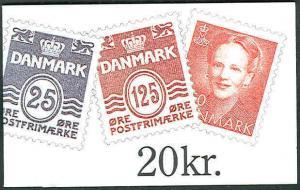 DENMARK (H56) 20kr Booklet, H36 on back, VF