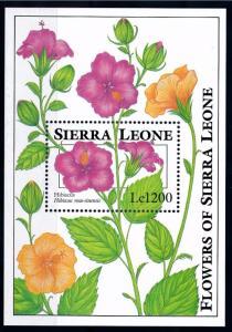 [67140] Sierra Leone 1993 Flora Flowers Blumen Hibiscus Souvenir Sheet MNH