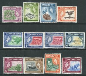 PITCAIRN ISLANDS-1957-63  set to 2/6 Sg 18-28 UNMOUNTED MINT V22124