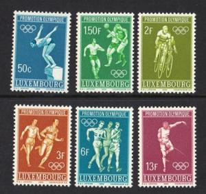 Luxembourg  MNH  1968 Olympic Games Mexico complete
