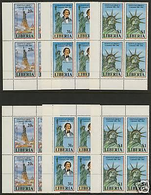 Liberia 1046-8 BL Blocks MNH Statue of Liberty