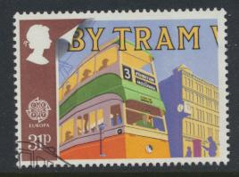Great Britain  SG 1394 SC# 1215 Used / FU with First Day Cancel - Europa Tran...