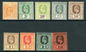 CEYLON-1910-11  A lightly mounted mint set to 10r Sg 292-300