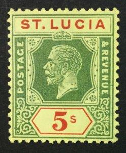 MOMEN: ST. LUCIA SG #105 1923 MINT OG NH £60+++ LOT #61225