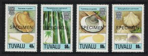 Tuvalu Fungi 2nd series 4v Specimen 1989 MNH SG#554-557 CV£8.40