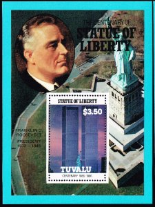 UK STAMP TUVALU 1986 CENTENARY STATU OF LIBERTY MNH S/S STAMP COLLECTION LOT #9