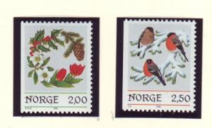Norway Sc 871-2 1985 Christmas stamp set mint NH