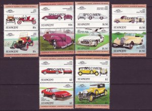 J24522 JLstamps 1983 st vincent specimen set pairs mnh #687-92 cars autos