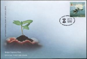 Kyrgyzstan. 2015. International Year of Soils (Mint) First Day Cover