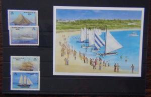 Anguilla 1986 Christmas Ships set & Miniature Sheet MNH