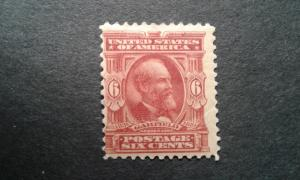 US #305 mint hinged ~1812.2228
