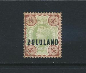 ZULULAND 1888, 4d VF USED SG#6 (SEE BELOW)