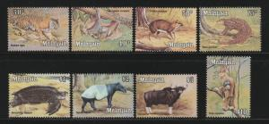 Malaysia 1979 Wildlife High Definitive Series 30c-$10 MLH SG #190-197