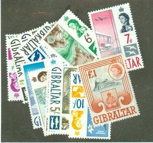 Gibraltar 147-60 MNH CV $82.55