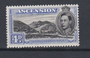 ASCENSION  1938  S G 42C 4D  BLACK  &  ULTRAMARINE 131/2 MNH