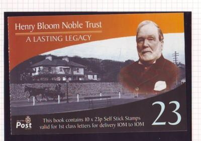 Isle of Man Sc 1007Jp 2003 23p Bloom Noble Trust booklet pane mint NH