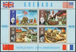 Grenada 378a,MNH.Michel Bl.9.End of WW II,25,1970.Roosevelt,Churchill,Eisenhower