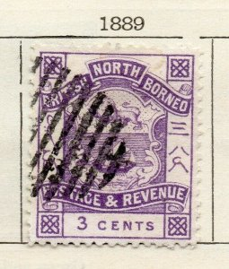 North Borneo 1889 Early Issue Fine Used 3c. NW-113860