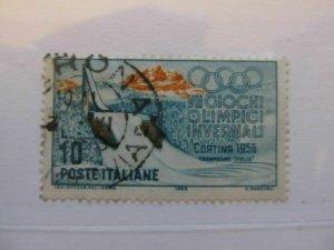 Italy Italia 1956 10L usato fine stamp A5P12F251