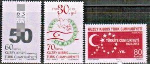 2013 TURKISH CYPRUS - ANNIVERSARIES AND EVENTS - UMM