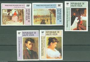 UPPER VOLTA PABLO PICASSO IMPERFORATED SET SC#372/74 C220/21  MINT NH
