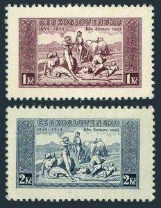 Czechoslovakia 200b-201b,MNH.Mi 330x-331x. National Anthem,100,1934.Pastoral.