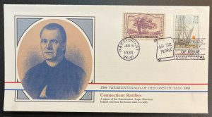 US #2340 FDC + #772 - Bicentennial of Constitution 1787-1987 [BIC48]
