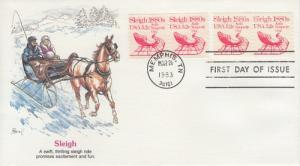 1983 Sleigh Transportation Coil (Scott 1900) Fleetwood FDC