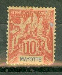 AH: Mayotte 6 mint CV $75