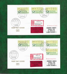 GERMANY 1981 AUTO LABELS ON FDCs