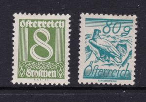 Austria x 2 of the scarcer ones MH from 1925 set