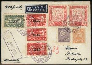 Paraguay 1935 Graf Zeppelin SAF Si304 Germany Cover 98882
