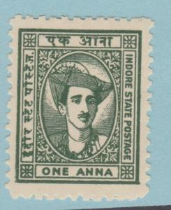 INDIA INDORE 36 MINT NEVER HINGED OG ** NO FAULTS EXTRA FINE !