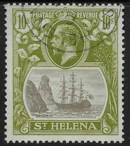ST.HELENA SG112 1922 10/= GREY & OLIVE-GREEN USED
