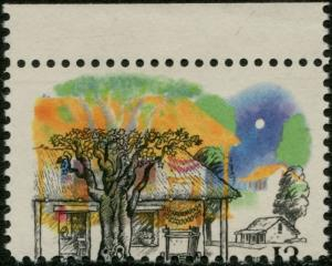 #1725 VAR. FARM HOUSES 13¢ MAJOR BLACK COLOR SHIFT ERROR BP4794