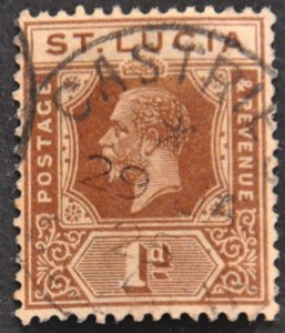 DYNAMITE Stamps: St. Lucia Scott #78 – USED