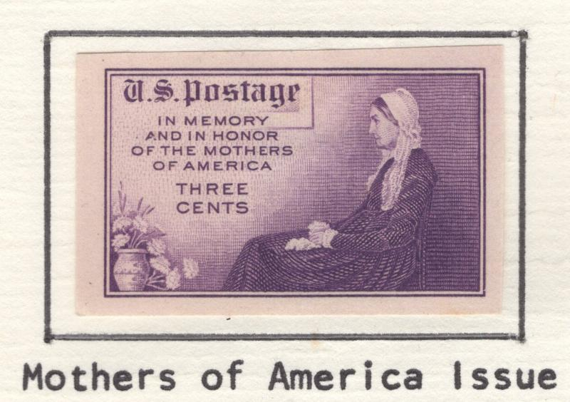 US 1935 Mothers of America Imperf 3c Stamps Scott 754 MH