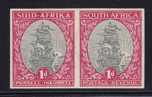 South Africa Scott # 24c XF imperf pair lightly hinged cv $ 1350 ! see pic !